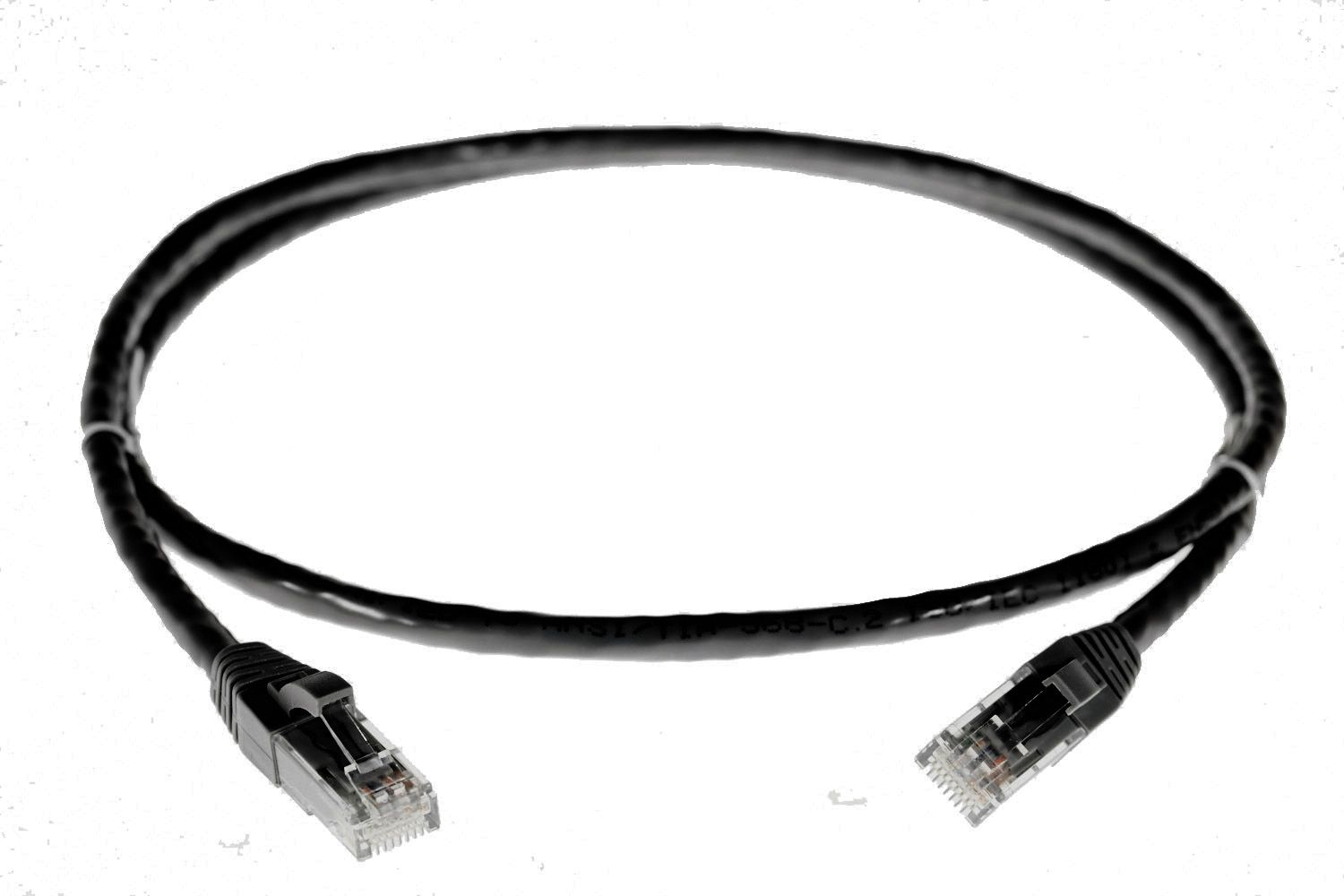 4cabling - cat6 rj45 black network cable - 1 5m